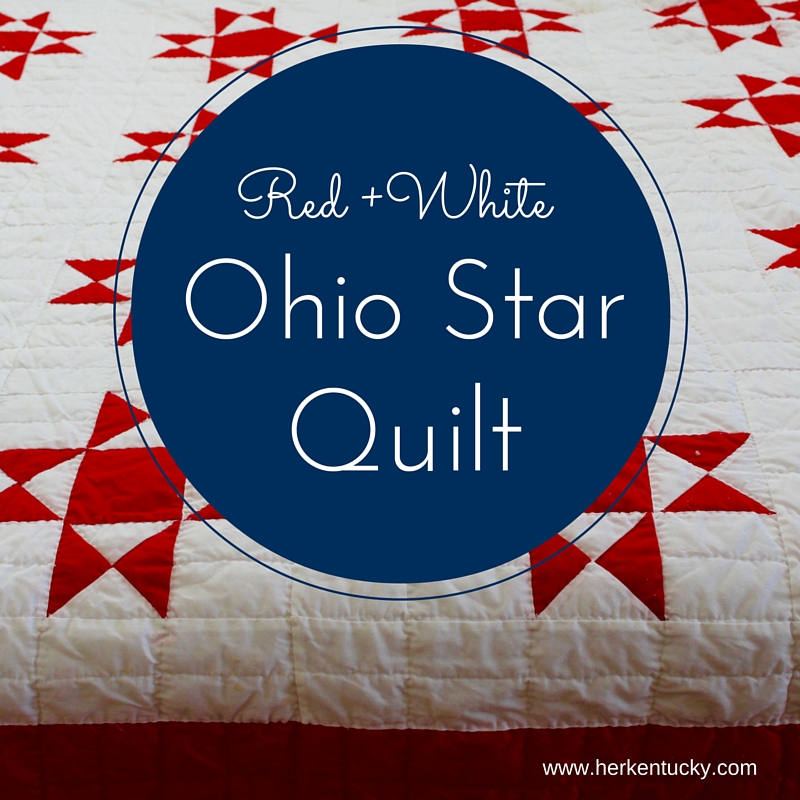 Red And White Ohio Star Quilt Herkentucky By Heather C