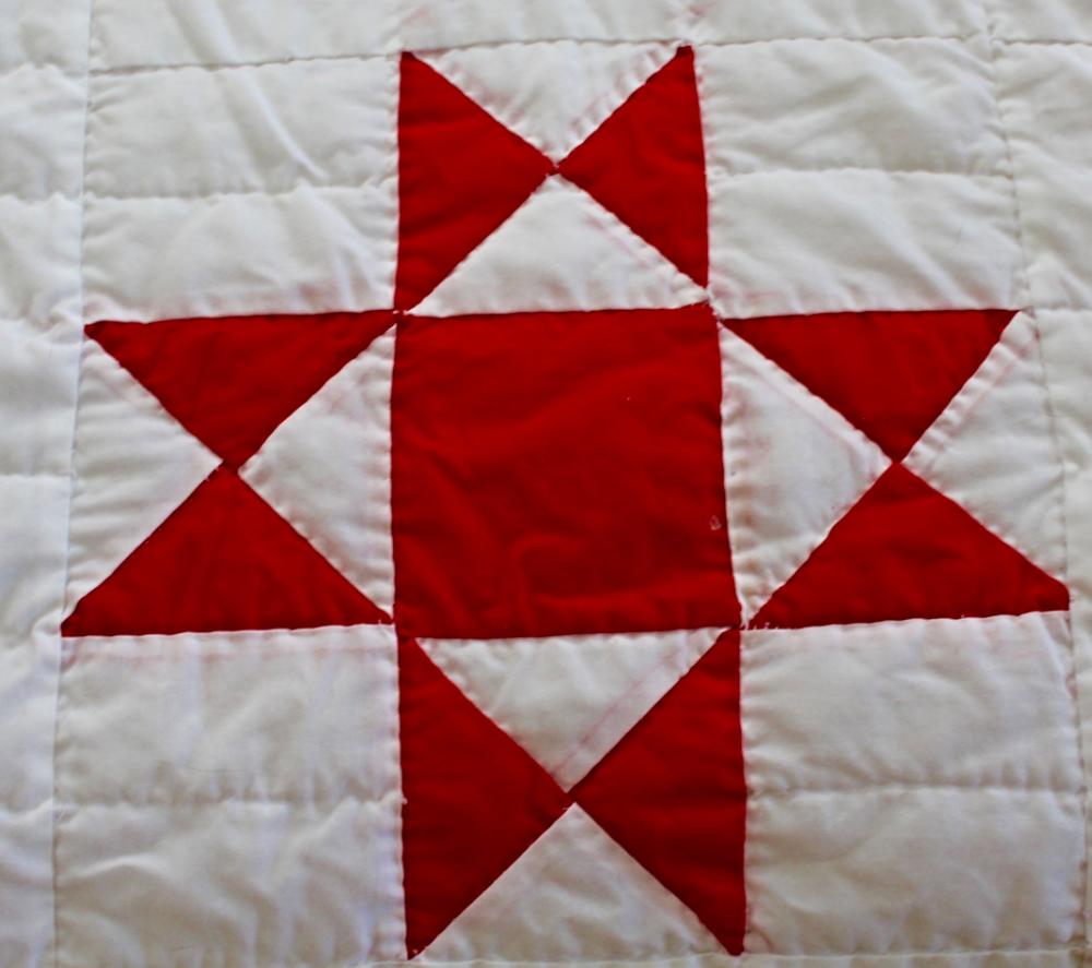 Red and White Ohio Star Quilt — HerKentucky by Heather C. Watson ... : red star quilt - Adamdwight.com