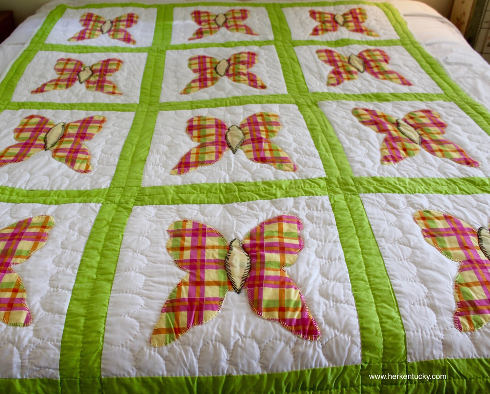 Pink and green plaid butterfly quilt.jpg