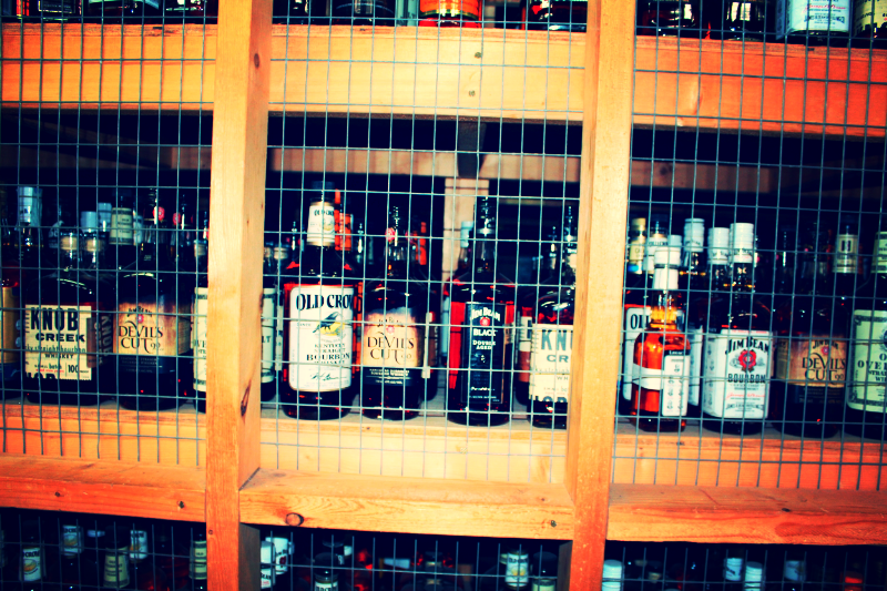 The Liquor Cabinet at Jim Beam. Every one of these has their purpose.
