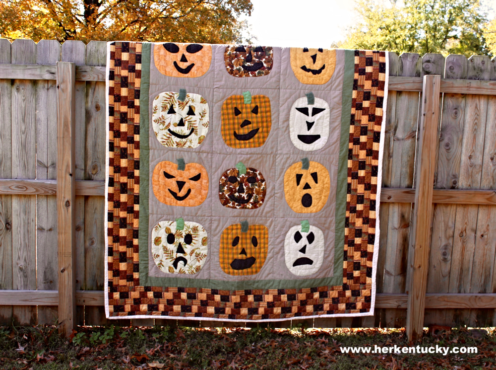 Orange + Green Halloween Quilt