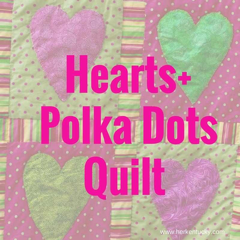 HerKentucky Hearts + Polka Dots Quilt
