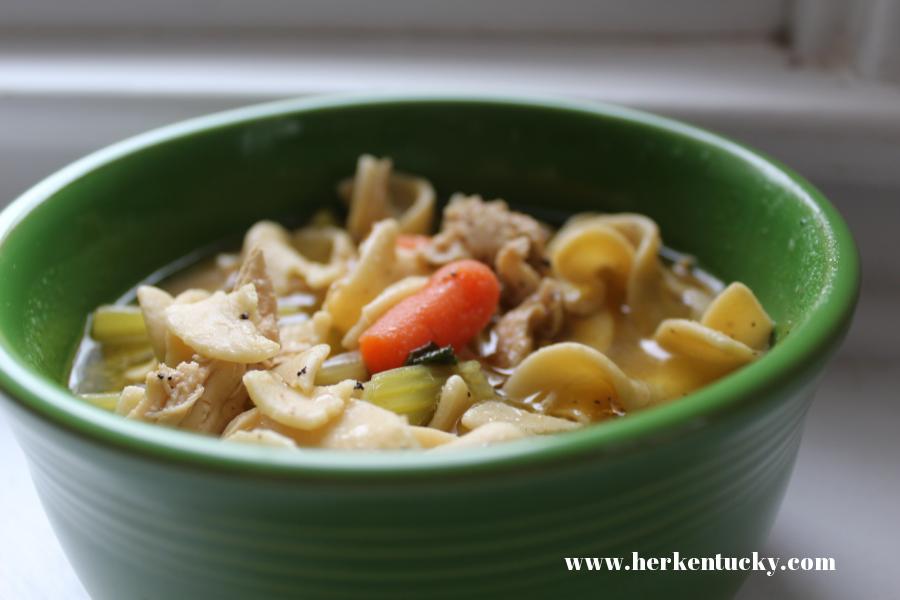 HerKentucky.com Homemade Chicken Noodle Soup