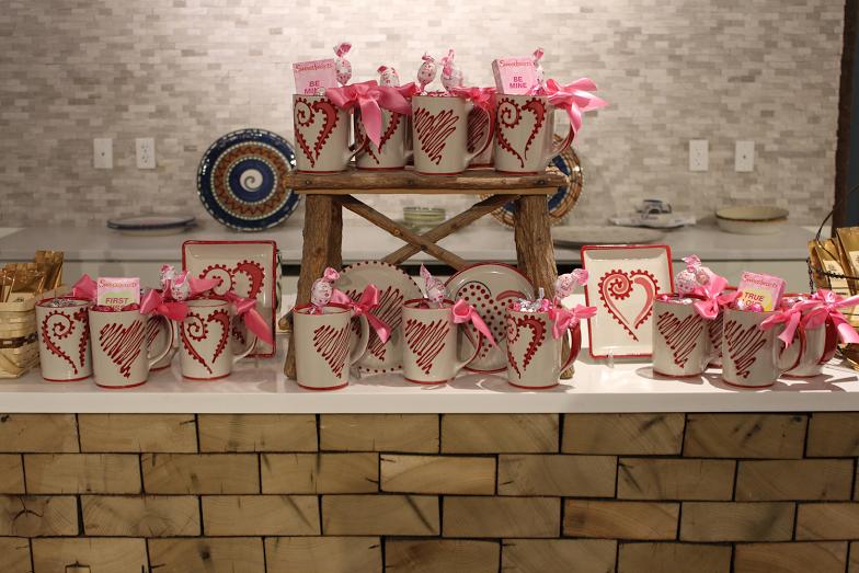 Louisville Stoneware Valentine Mugs