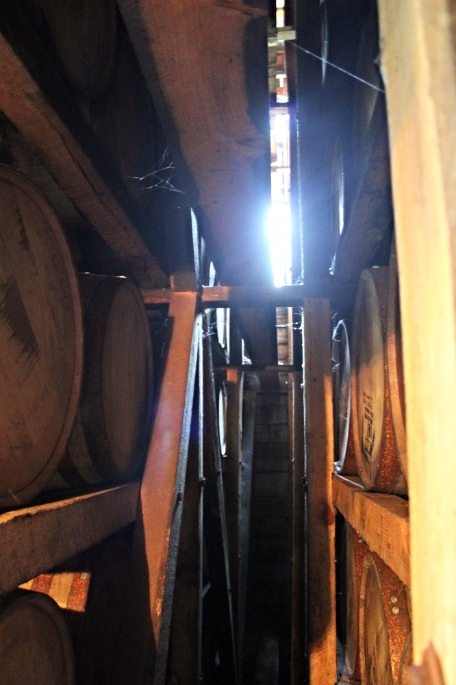 Barrels aging at Maker's Mark Rickhouse.