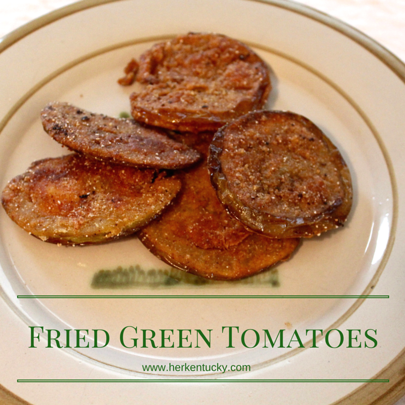 HerKentucky.com | Fried Green Tomatoes Recipe