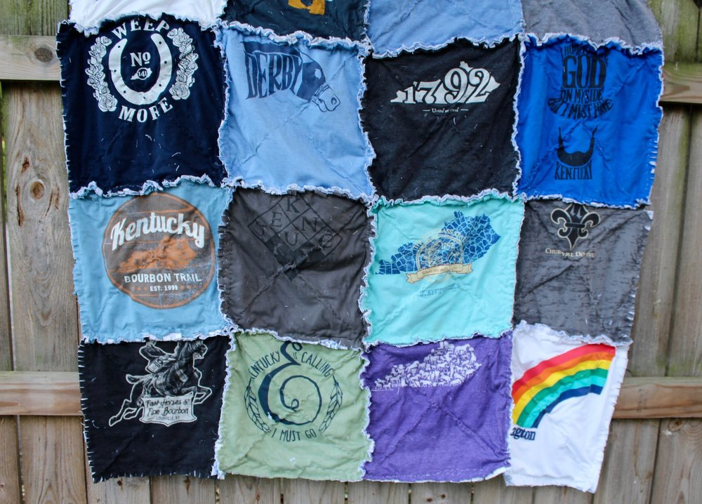 Kentucky rag t-shirt quilt tutorial