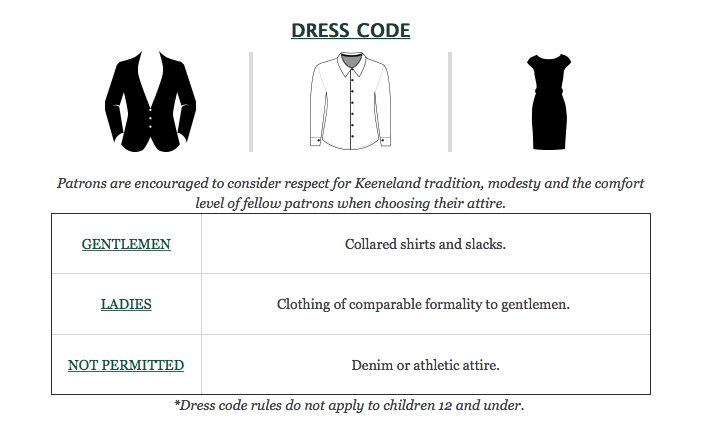 Phoenix Dining Room Dress Code, image via Keeneland