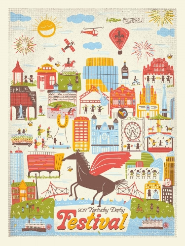 2017 Kentucky Derby Festival Print