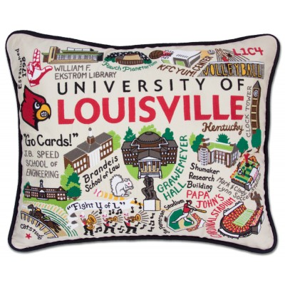 University of Louisville Cat Studio Pillow