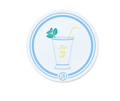 Draper James Mint Julep Paper Coasters