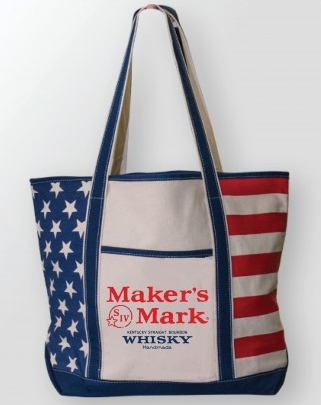 Maker's Mark Flag Tote (Get a free Americana dipped glass with a $40 purchase!)