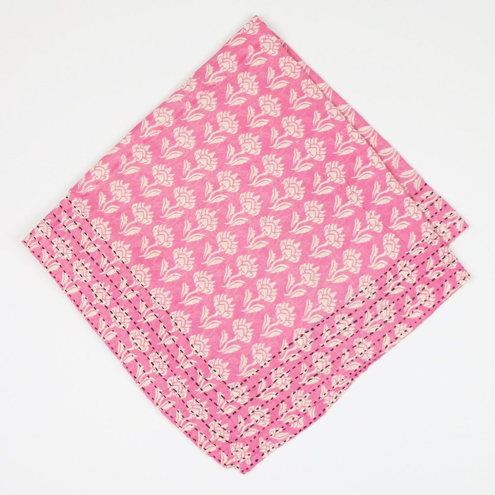 Anchal Project Pink Sunflowers Bandana Scarf