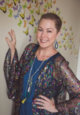 "Emily's ""Festival Season"" kimono, custom-made by Louisville designer Gunnar Deatherage. Photo by Sarah Schweizer Hester of SSH Photography."