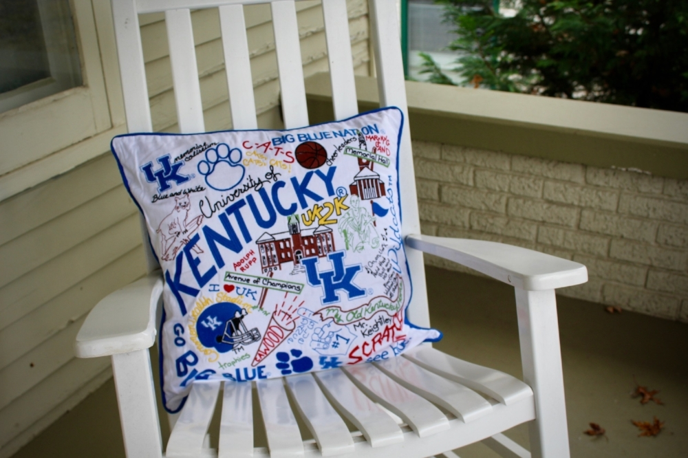 Kentucky Wildcats Embroidered Pillow