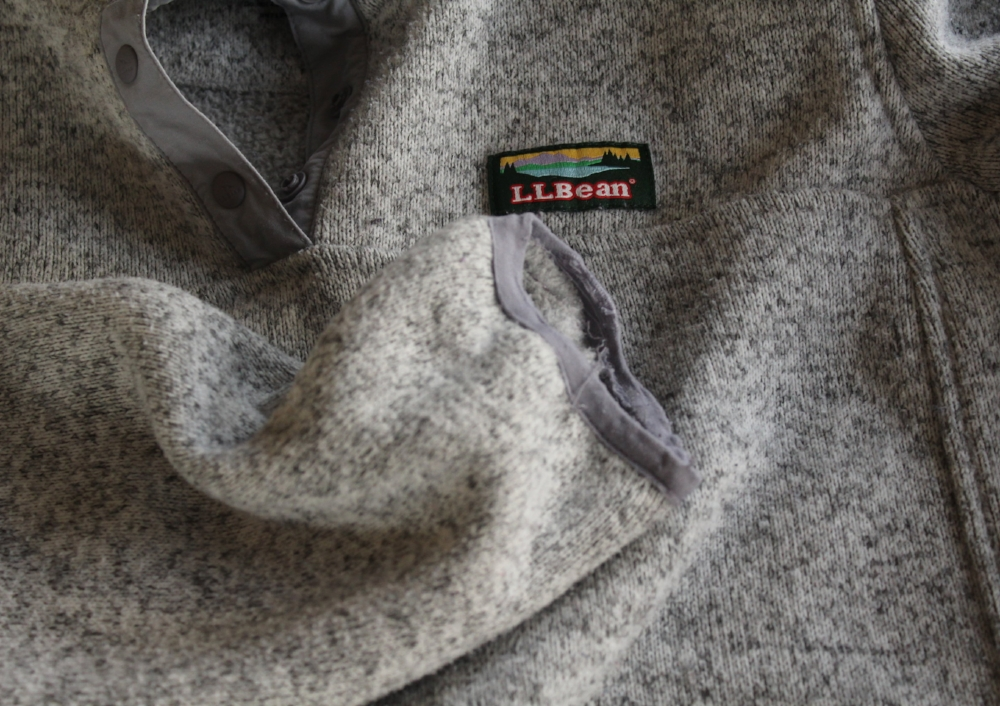 I love this sweater fleece. After 2 years, the hem is a little frayed; I plan to mend it!