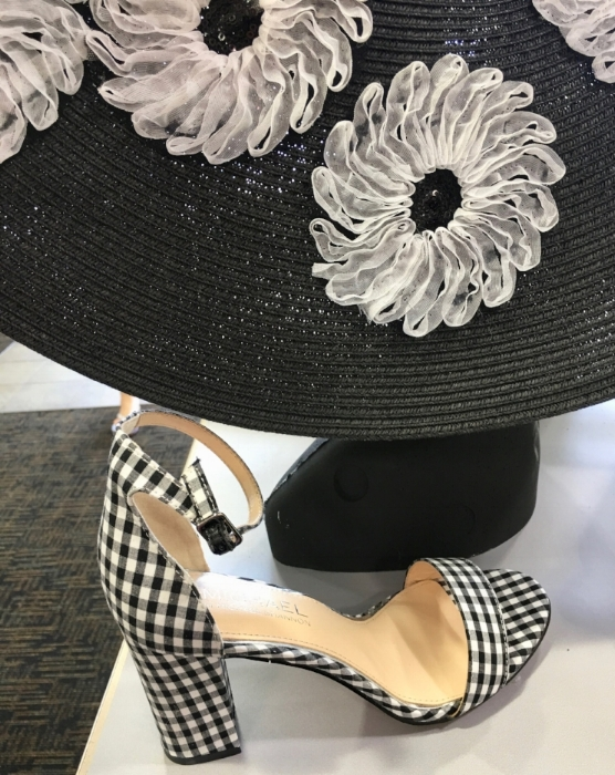 Kentucky Derby hat and shoes