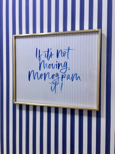 A signature Reese Witherspoon quotation at the Lexington Draper James boutique