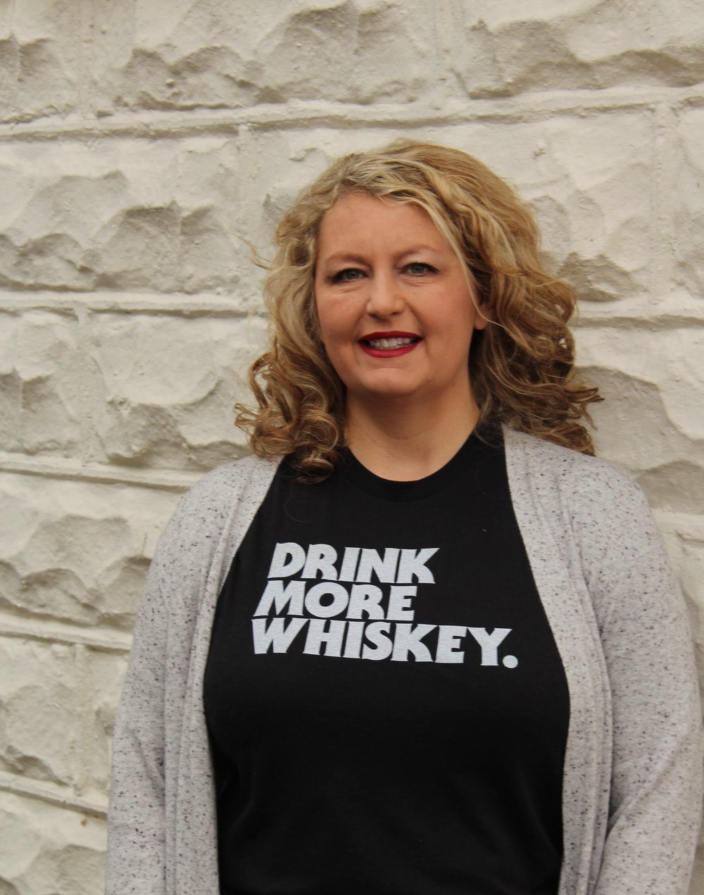 Drink More Whiskey Tee available at The Bitter Southerner General Store.