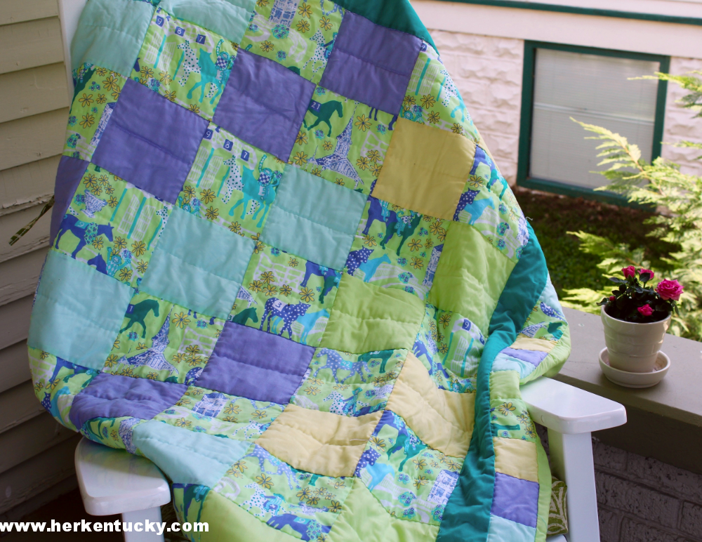 Lilly Pulitzer Kentucky Derby Quilt