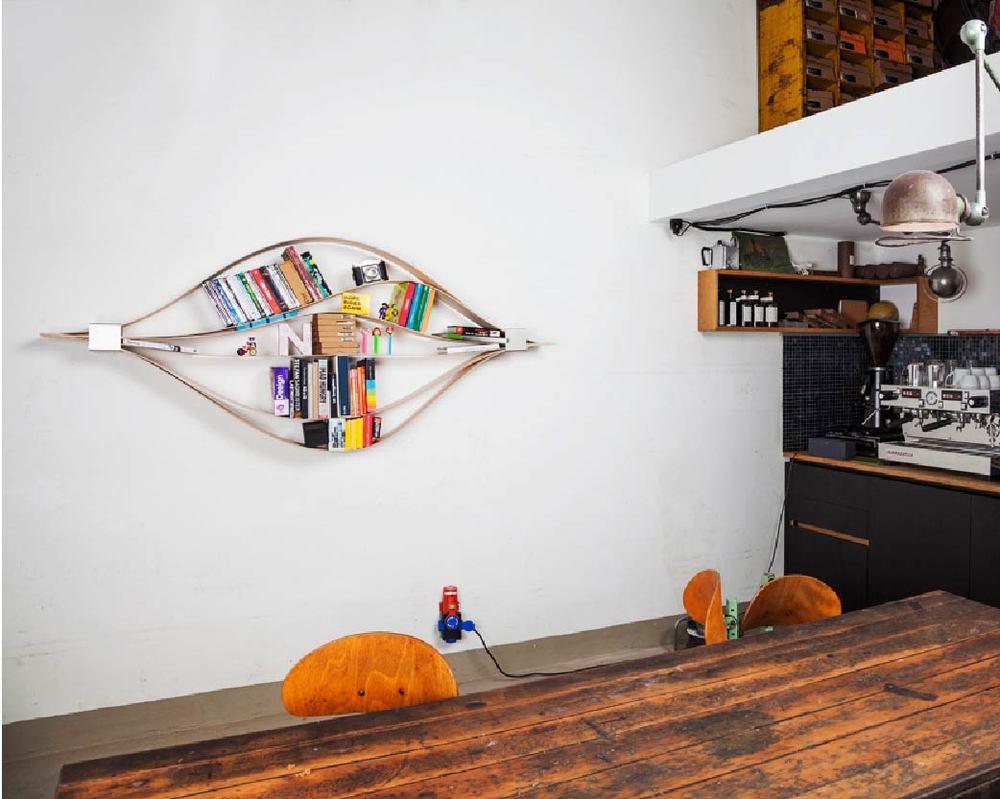 來自德國的Natascha Harra-Frischkorn 所設計的 Chuck 書架絕對會顛覆你對傳統書架的看法!