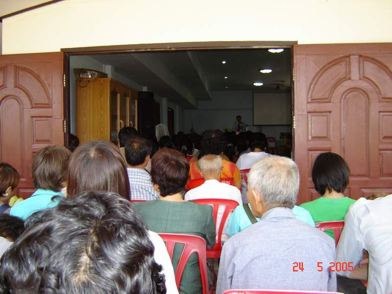 Many believers from other churches journeyed hours to celebrate with us, overflowing out the front doors.