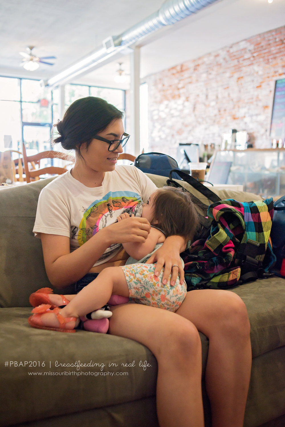 """No one should ever be afraid to breastfeed in public. If people don't see it it will never be normalized.""      - Vanessa and Lana (1 year)"