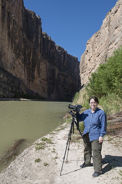 Photographer Carol M Highsmith at Big Bend National Park in Brewster County, Texas[Photo: The Lyda Hill Texas Collection of Photographs in Carol M Highsmith's America Project, Library of Congress, Prints and Photographs Division}