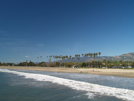 Goleta Beach from the pier