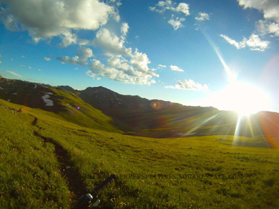 Cataract Ridge, Segment 23 of the Colorado Trail, in the golden hour (Chris Miller photo)