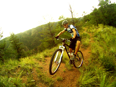 Riding a still-secret and sweet trail in Colorado Springs (actually now burned beyond recognition)