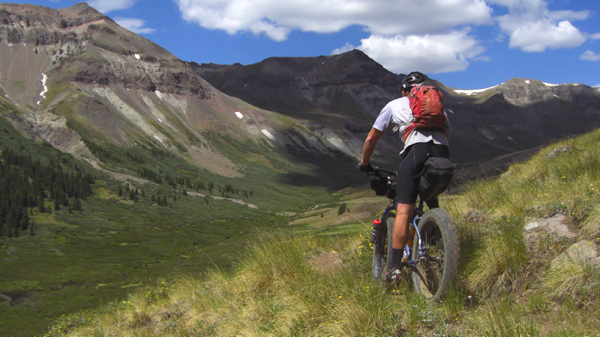 Ryan Douglas on the Colorado Trail.