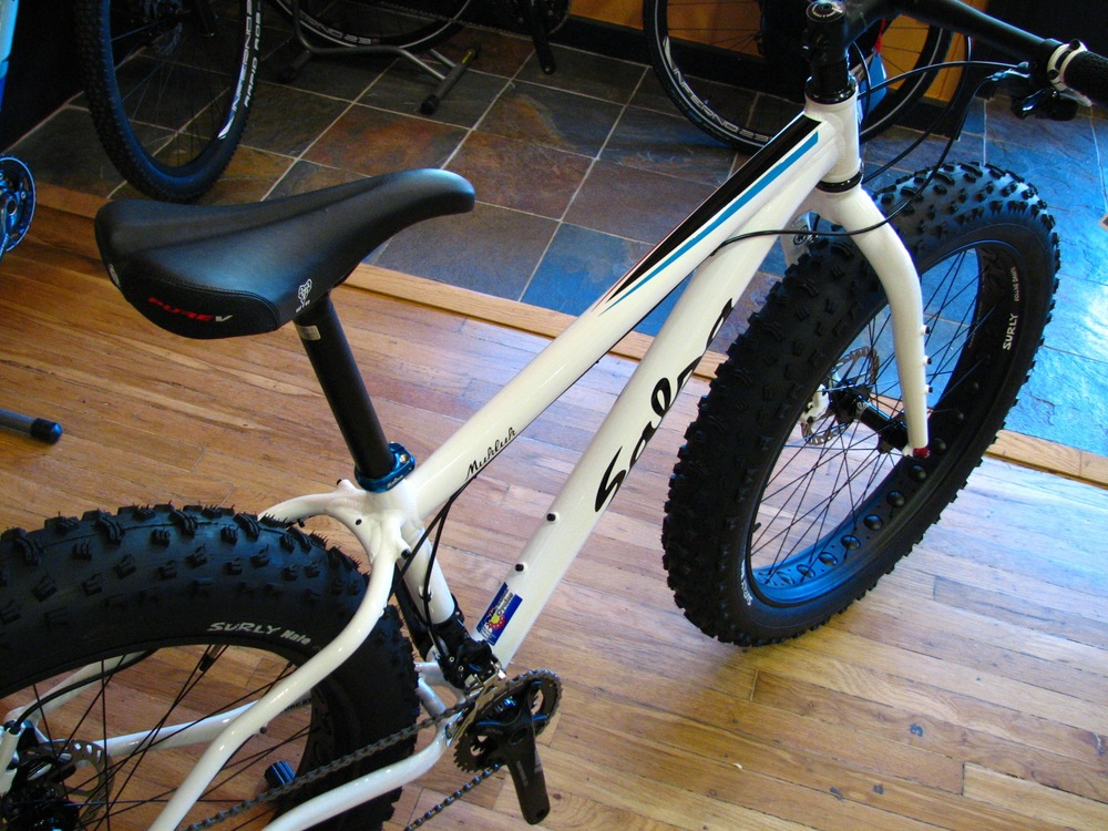 Same bike as above, but in white... otherwise known as snow camo!