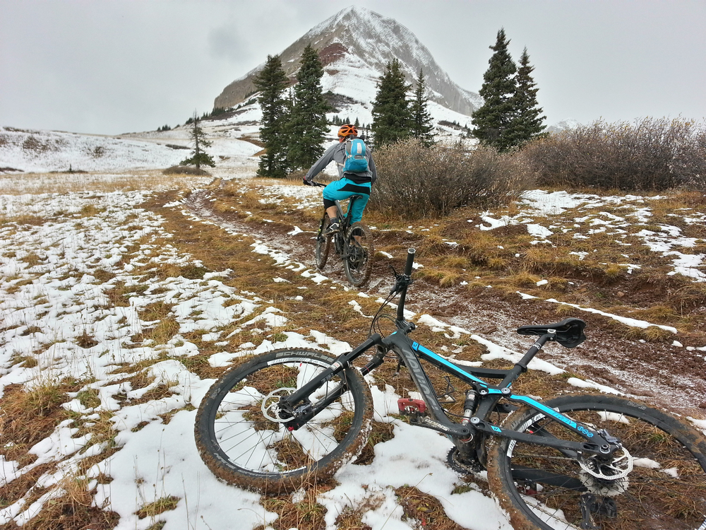 Not enough snow for a fatbike.  Still perfect for your summer machine!