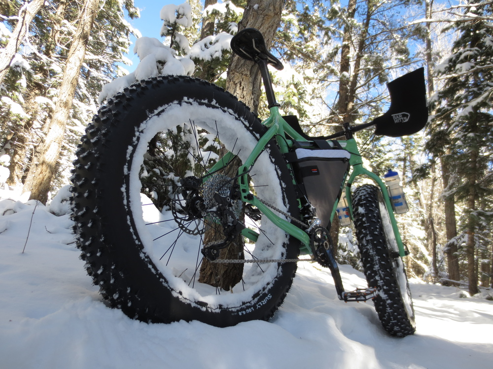 Singletrack in the snow is always fun.