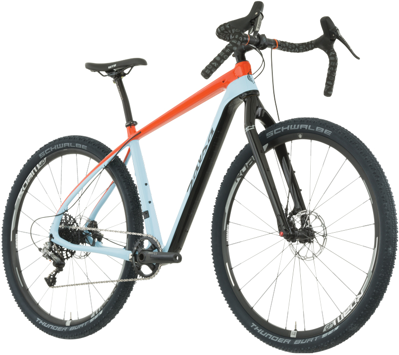 "Salsa's new Cutthroat is a pretty bike, to say in the least.  I dig the ""vintage Gulf racing"" paint choice."