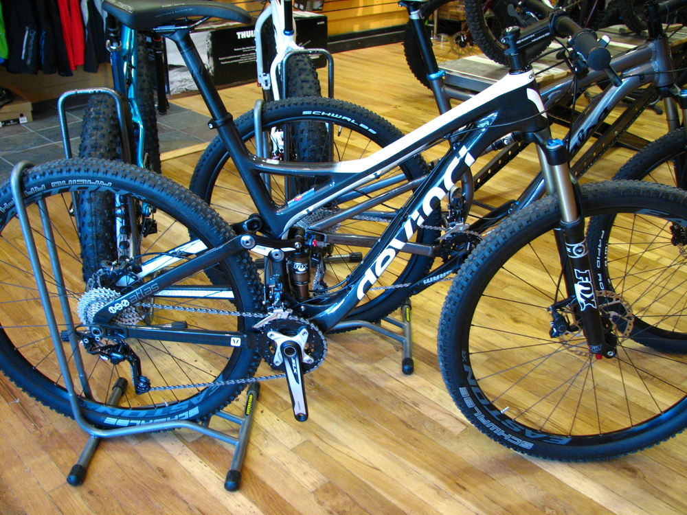 2014 Devinci Atlas RC Carbon: Was $4600, now only $3600 (that's a smokin' deal)
