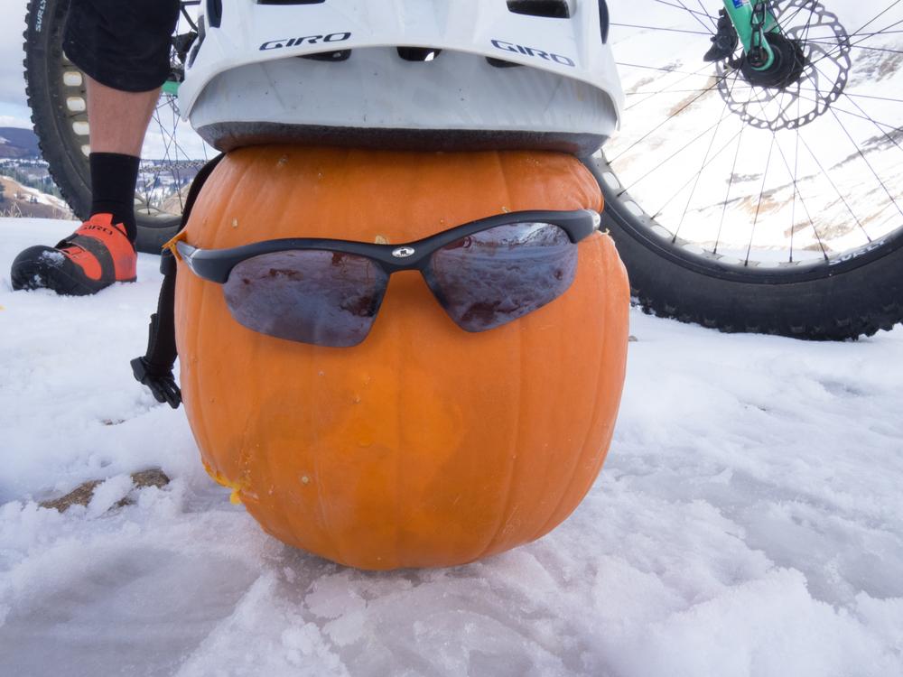 Mr. Pumpkin Head just waiting to get pulverized.