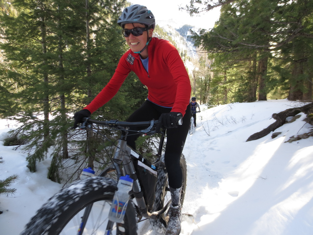 Sandhya enjoying the snow in La Plata Canyon.