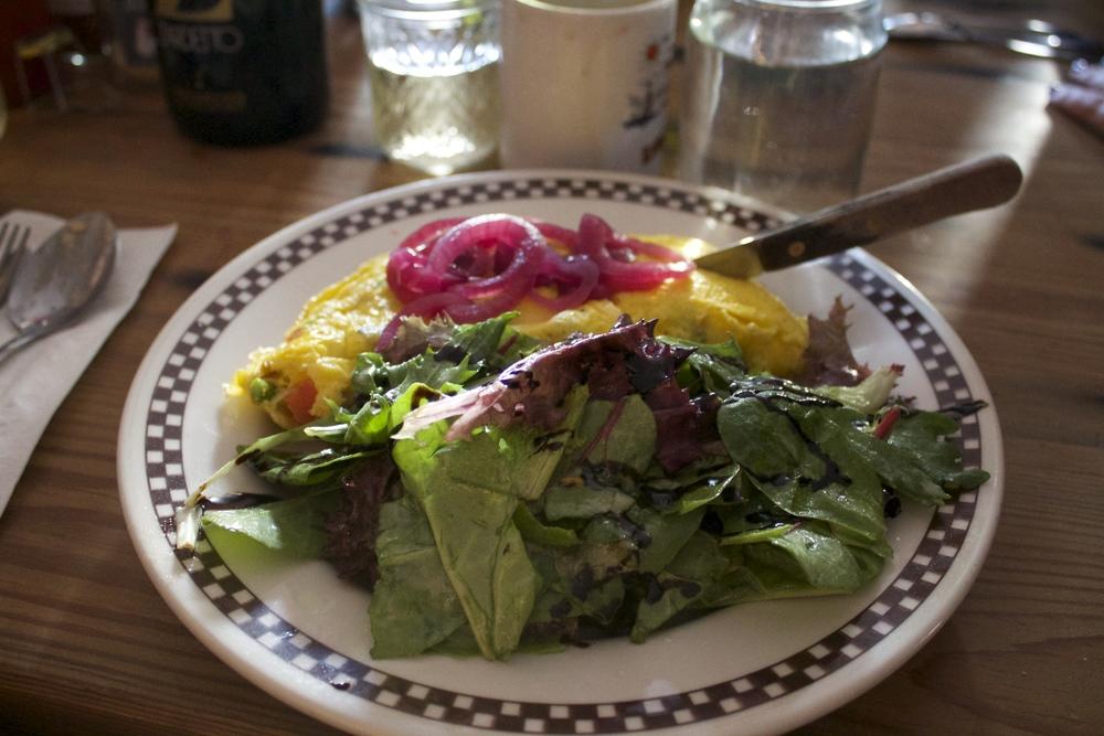 Spinach & Mushroom Ommelette
