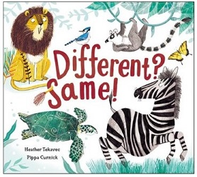 New!!! Different? Same!  Interactive Picture Book about animal features  2018  Bakers Dozen. Pennsylvania Center for the Book  2018 - CLEL Bell Picture Book Awards for Early Literacy, Colorado Libraries for Early Literacy, Short-listed  2017 - Best Books for Kids & Teens, Starred Selection, Canadian Children's Book Centre, Winner  2017 - First and Best List, Toronto Public Library, Winner