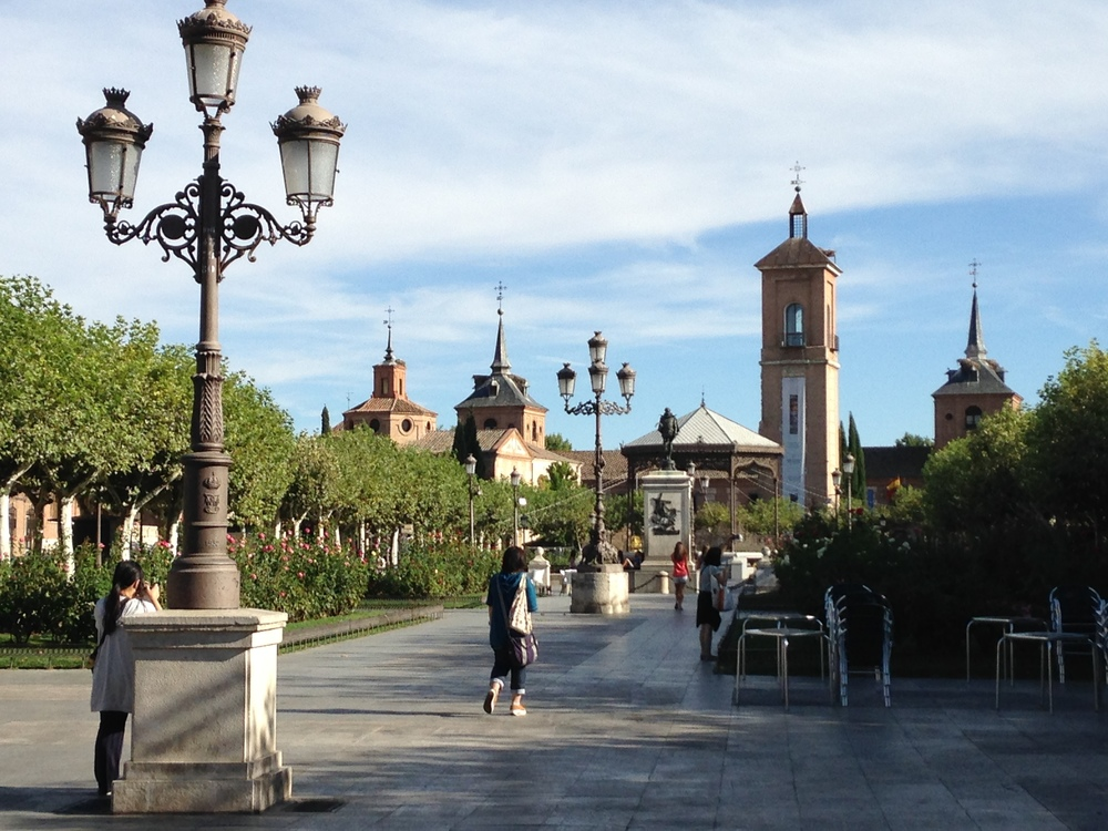 Plaza de Cervantes, the main plaza in the middle of the old town.