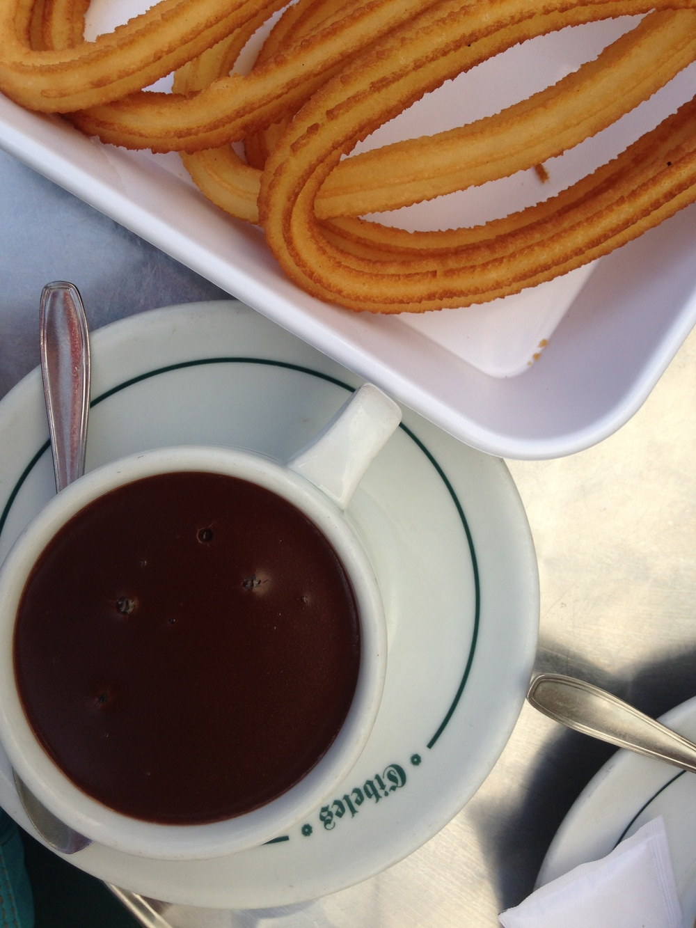 And finally, a photo of some churros. Mmmm, fried dough and chocolate.