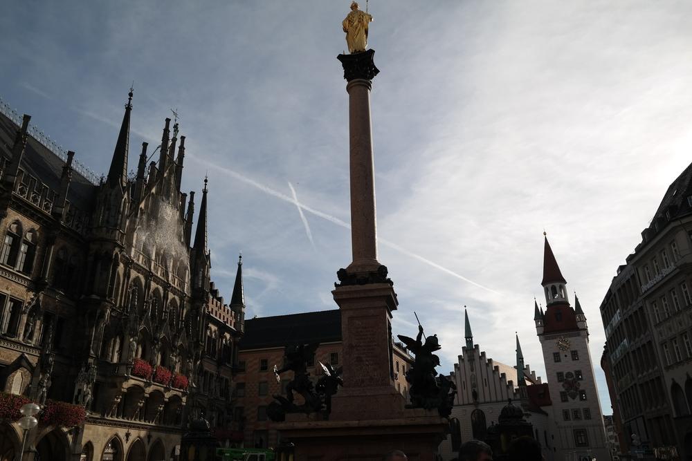 Marienplatz, right downtown.