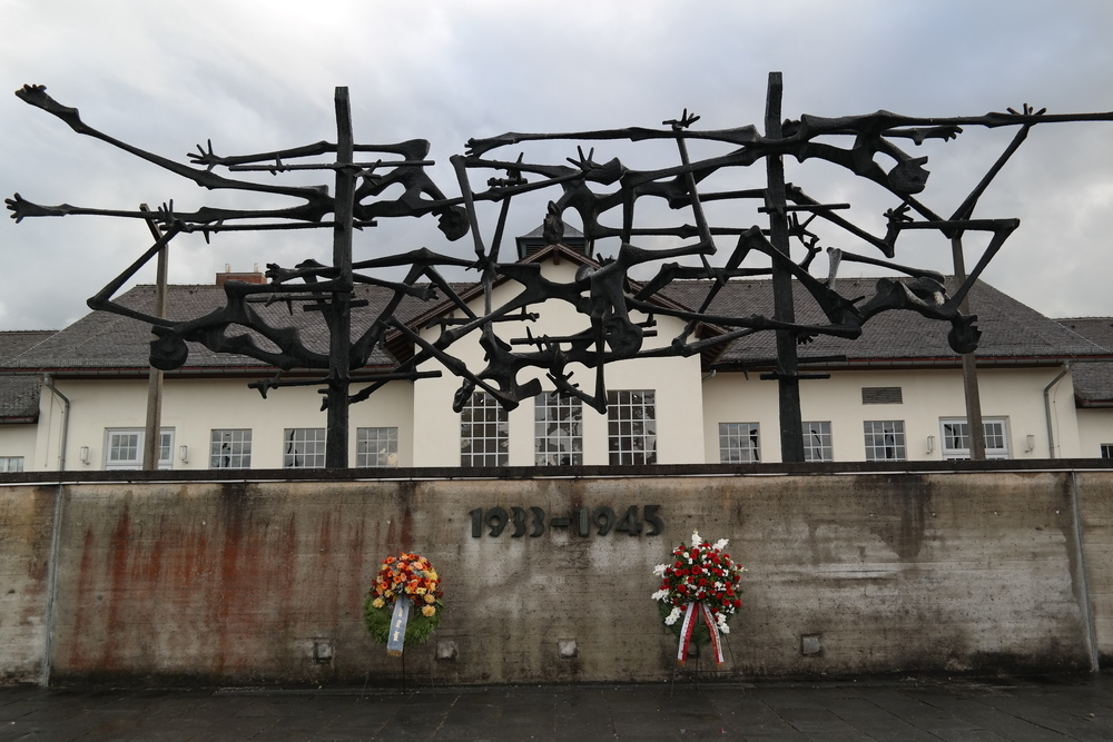 The memorial to those who suffered and died at the hands of evil at Dachau.