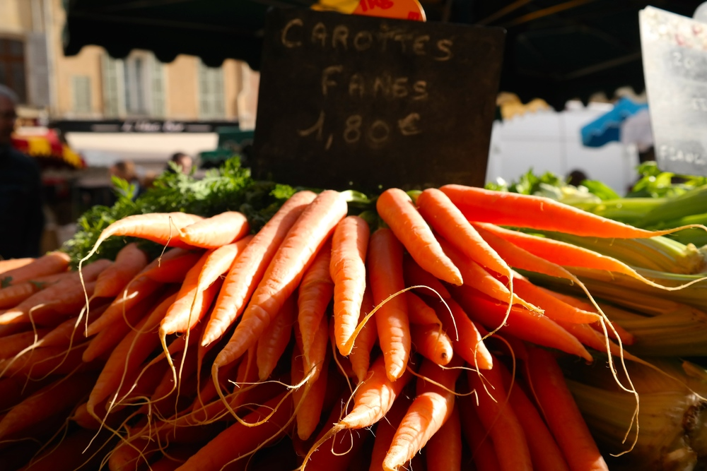 These carrots looked perfect, even on a cold winter weekend.