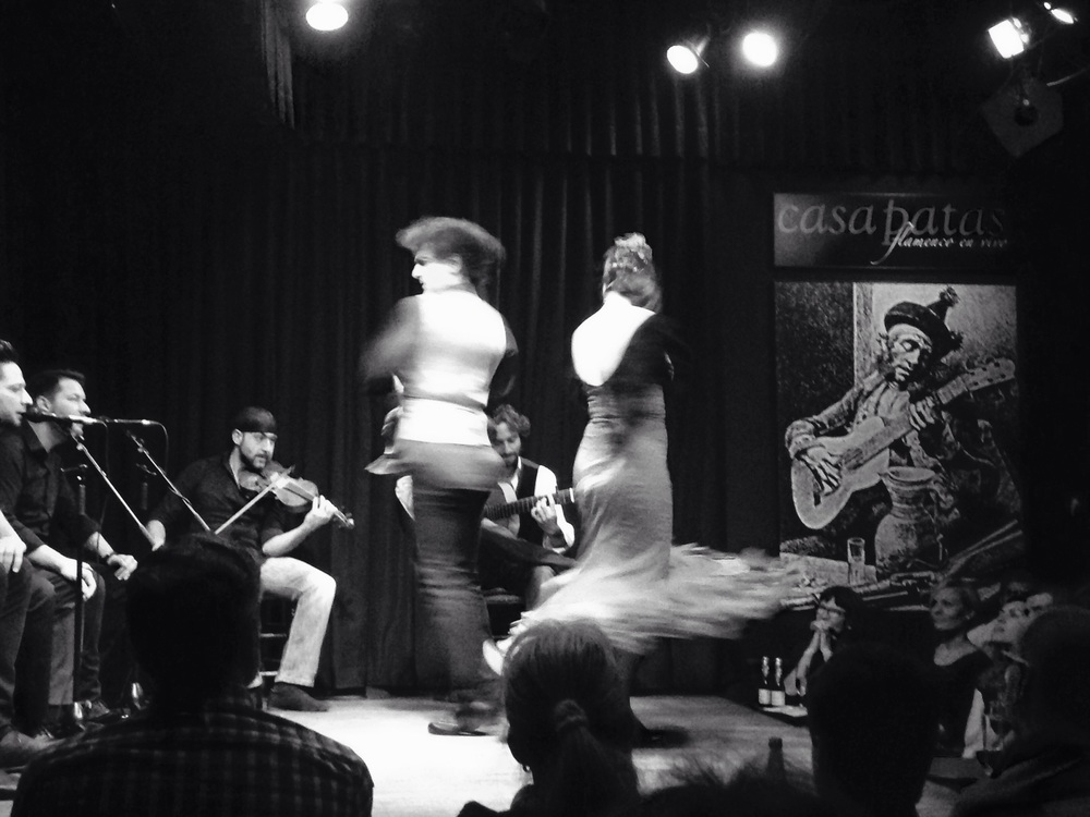 Flamenco at Casa Patas in Madrid, birthday celebration #2. So beautiful and intense.
