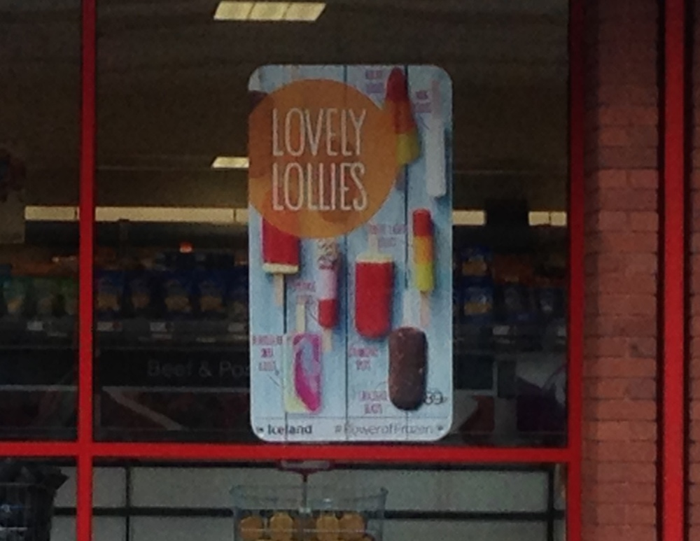 """Lovely Lollies."" This sign says it all."