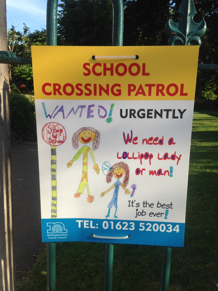 "The Brits apparently call crossing guards ""Lollipop Ladies/Men."" So. cute."