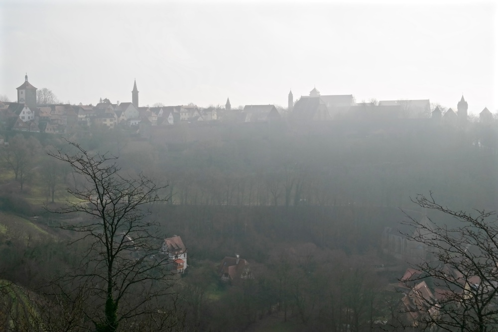 Rothenburg in the morning fog.